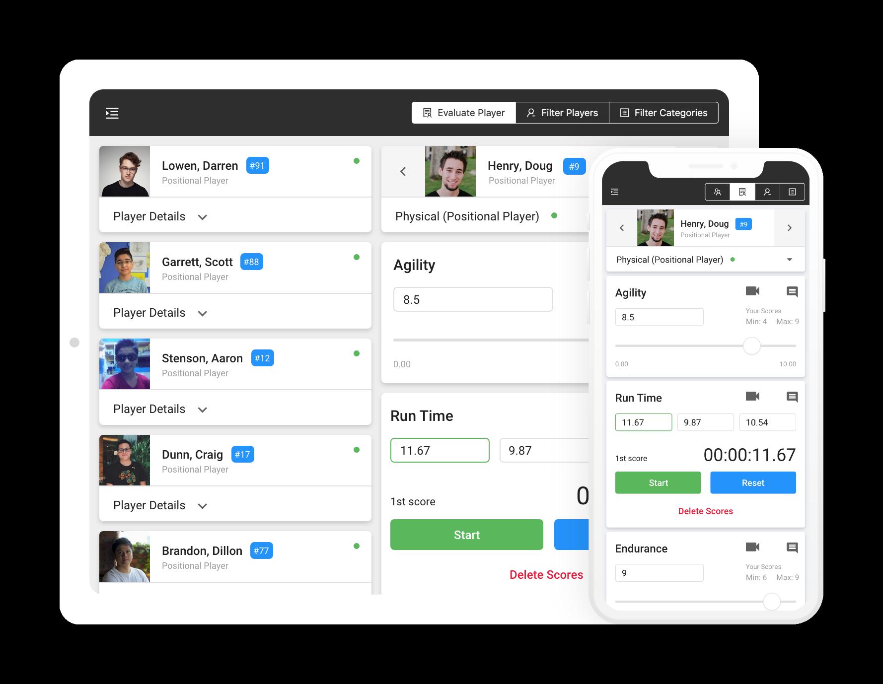 athlete evaluation software