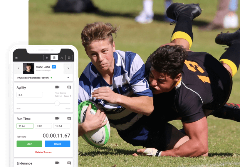 Rugby evaluation software