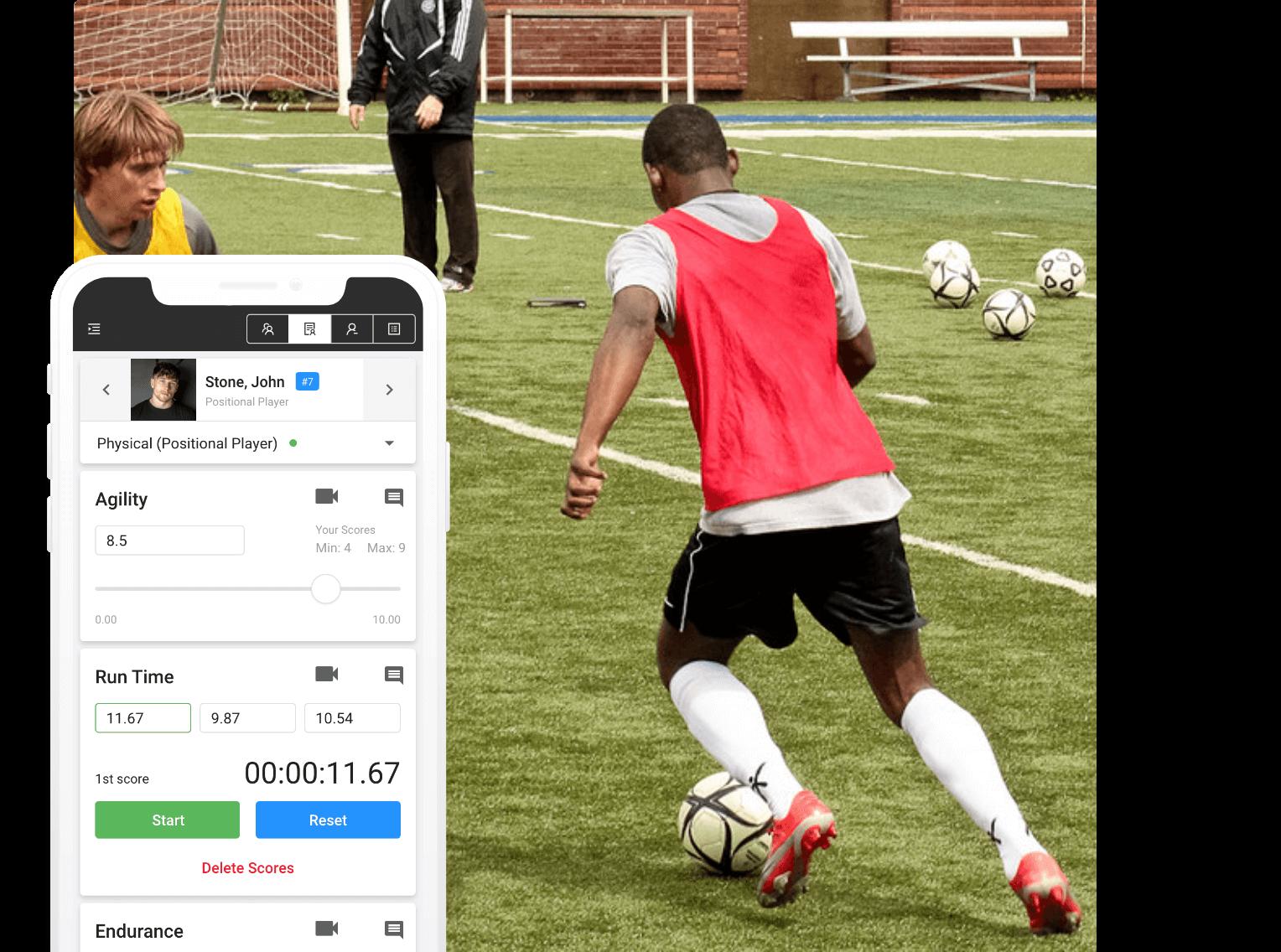 soccer player evaluation software skillshark